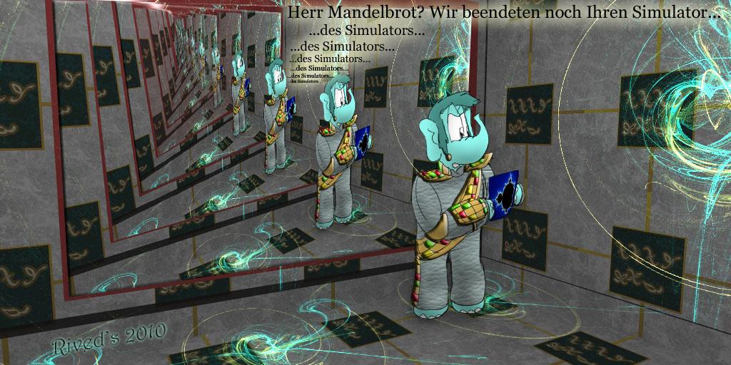 Ehrung für Mandelbrot auf Deutsch